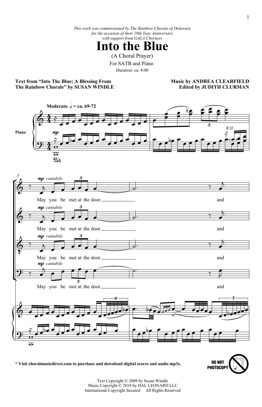 Into The Blue: A Choral Prayer (SATB Choir)