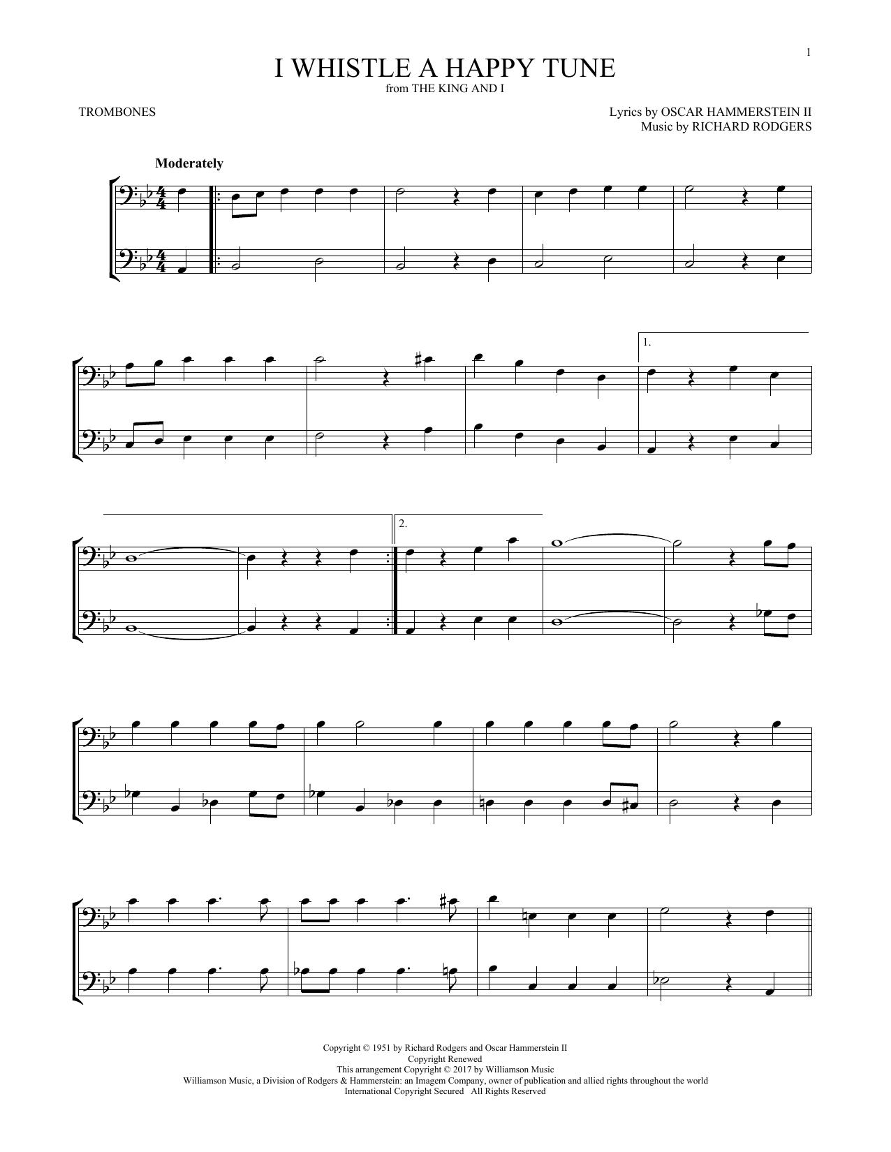 I Whistle A Happy Tune (Trombone Duet)