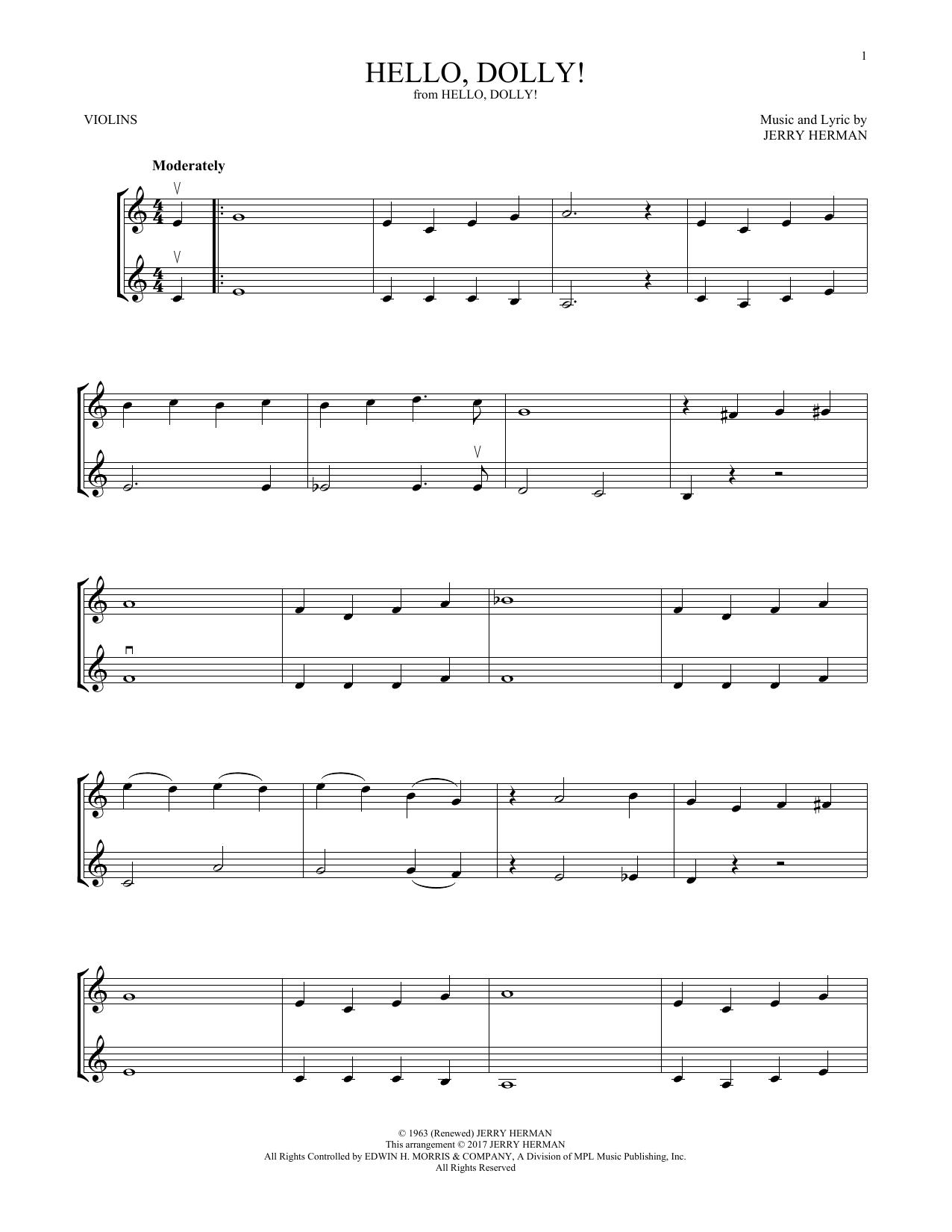 Hello, Dolly! (Violin Duet)