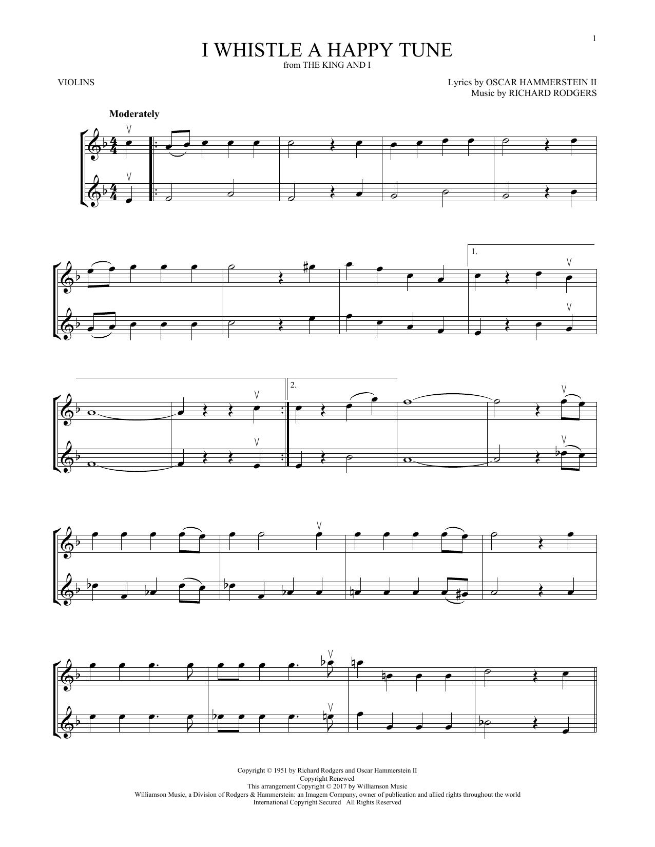 I Whistle A Happy Tune (Violin Duet)