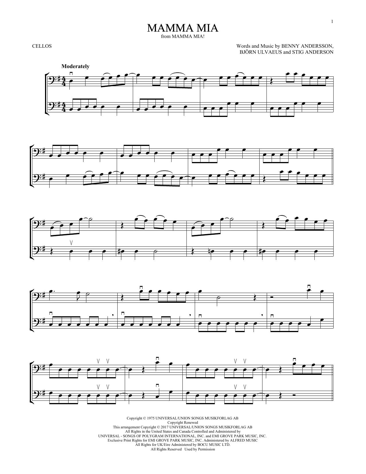 Mamma Mia (Cello Duet)