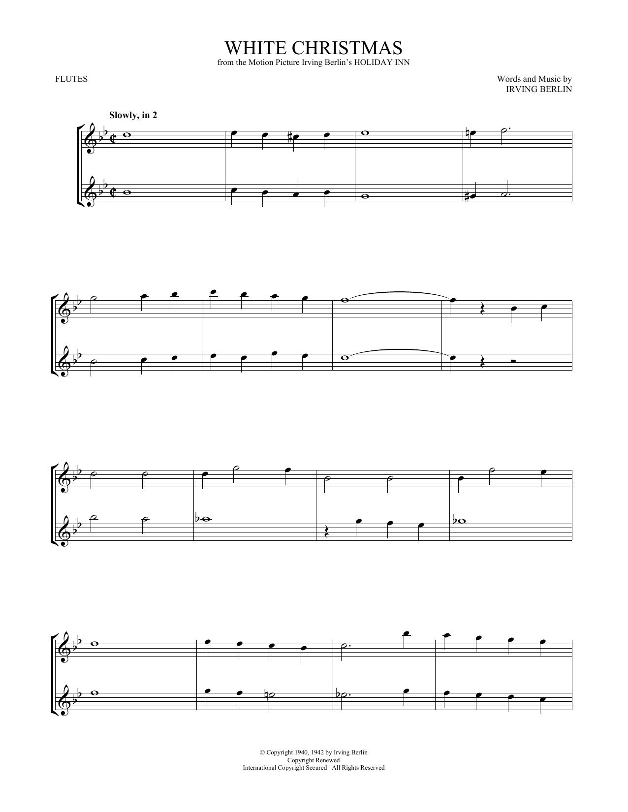 White Christmas (Flute Duet)