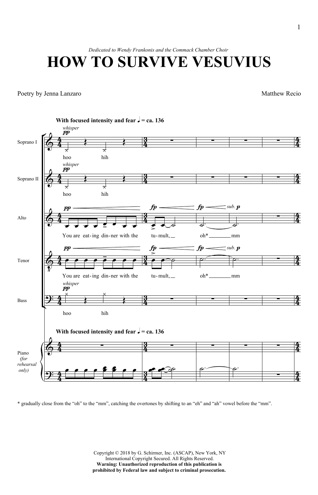How To Survive Vesuvius Sheet Music