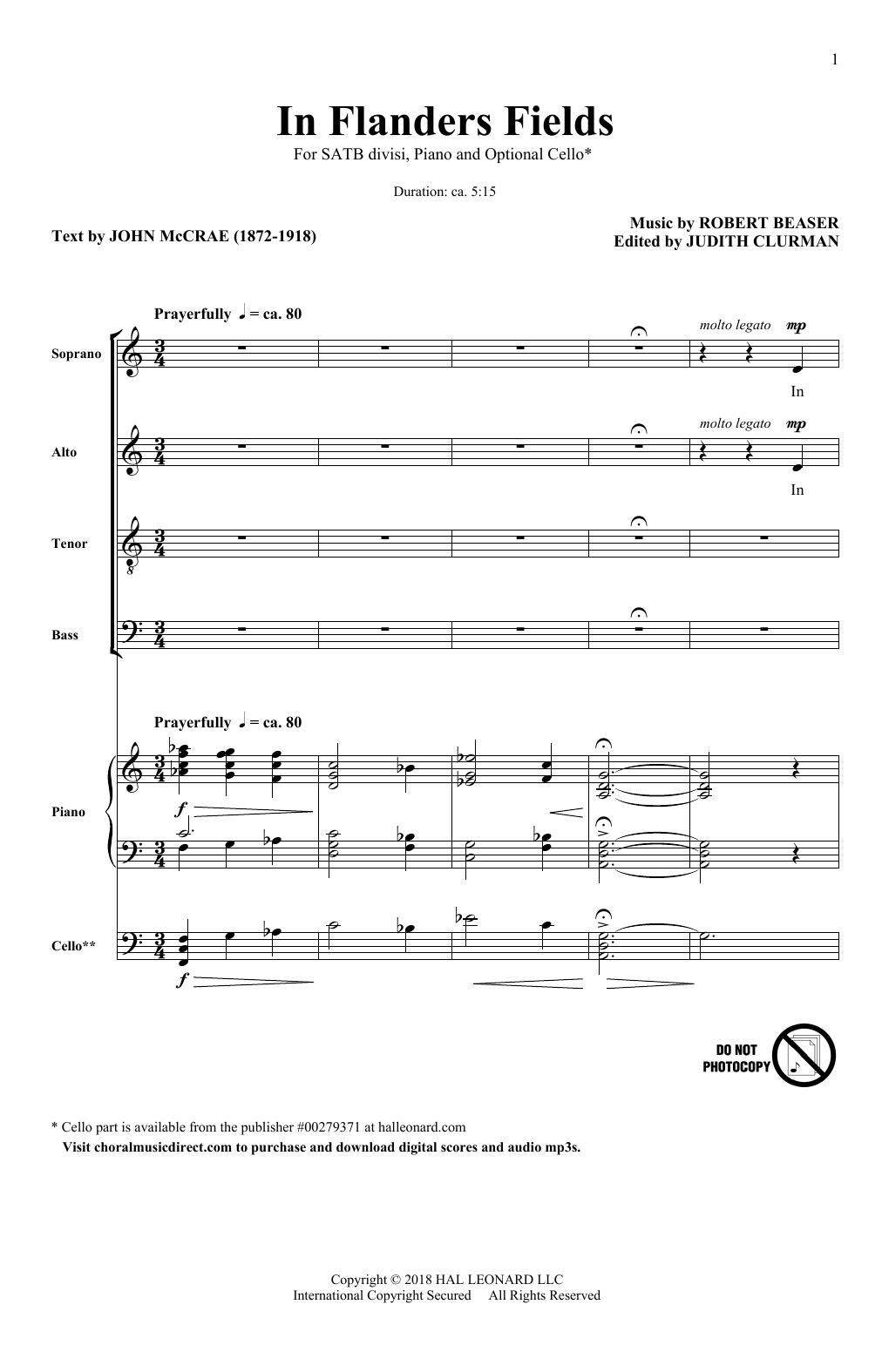 In Flanders Fields (SATB Choir)