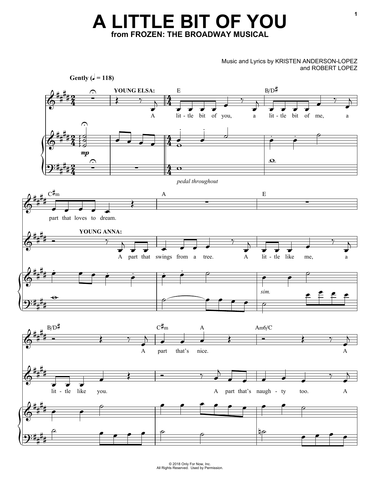 A Little Bit Of You (from Frozen: The Broadway Musical) (Piano & Vocal)