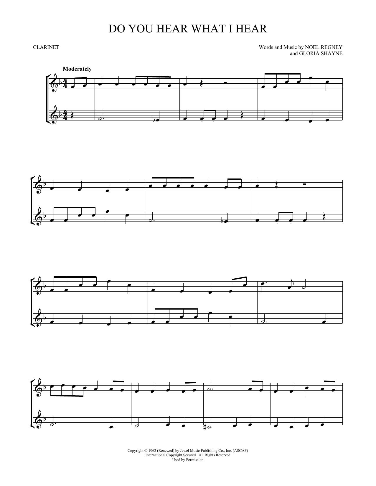 Do You Hear What I Hear (Clarinet Duet)