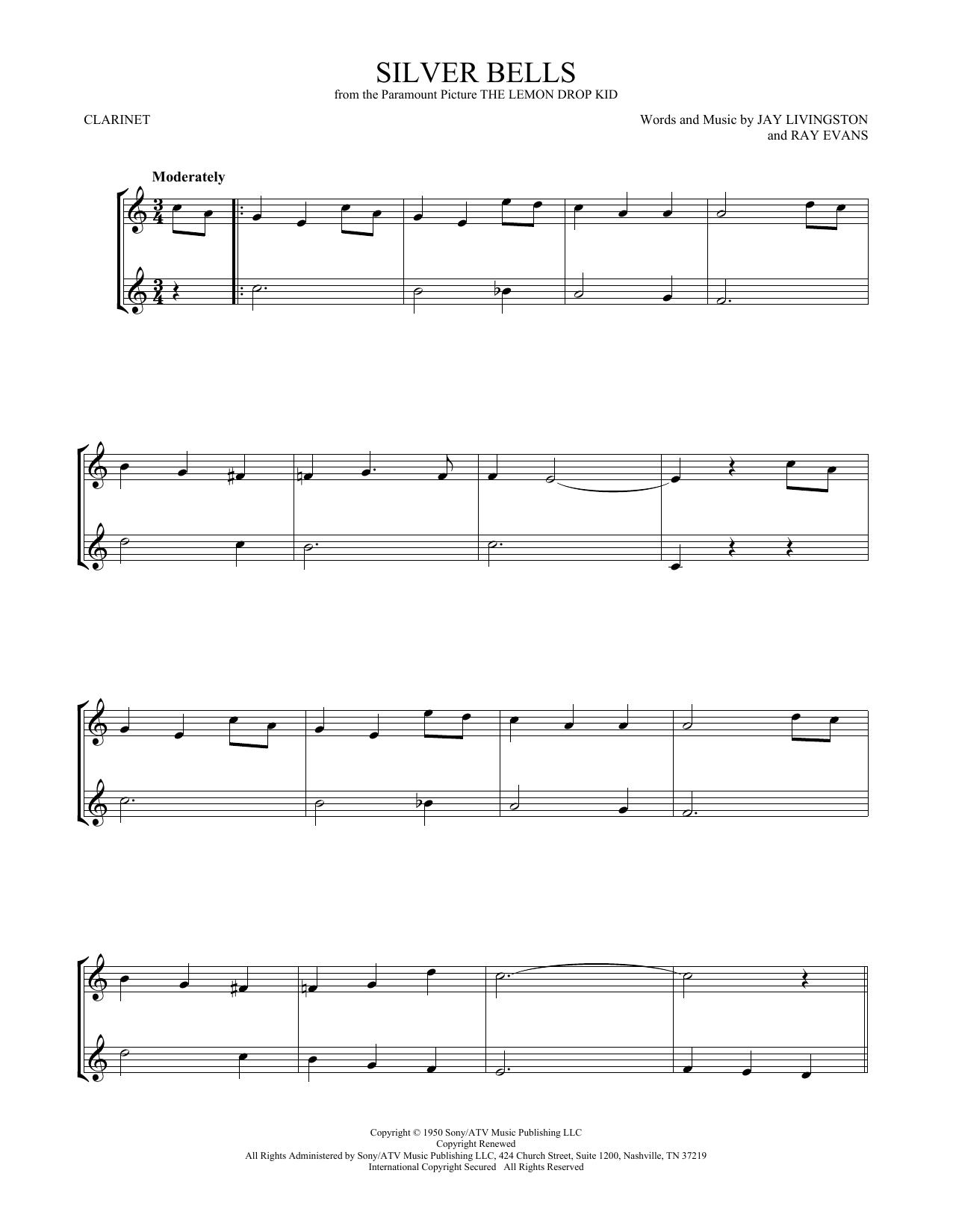 Silver Bells (Clarinet Duet)