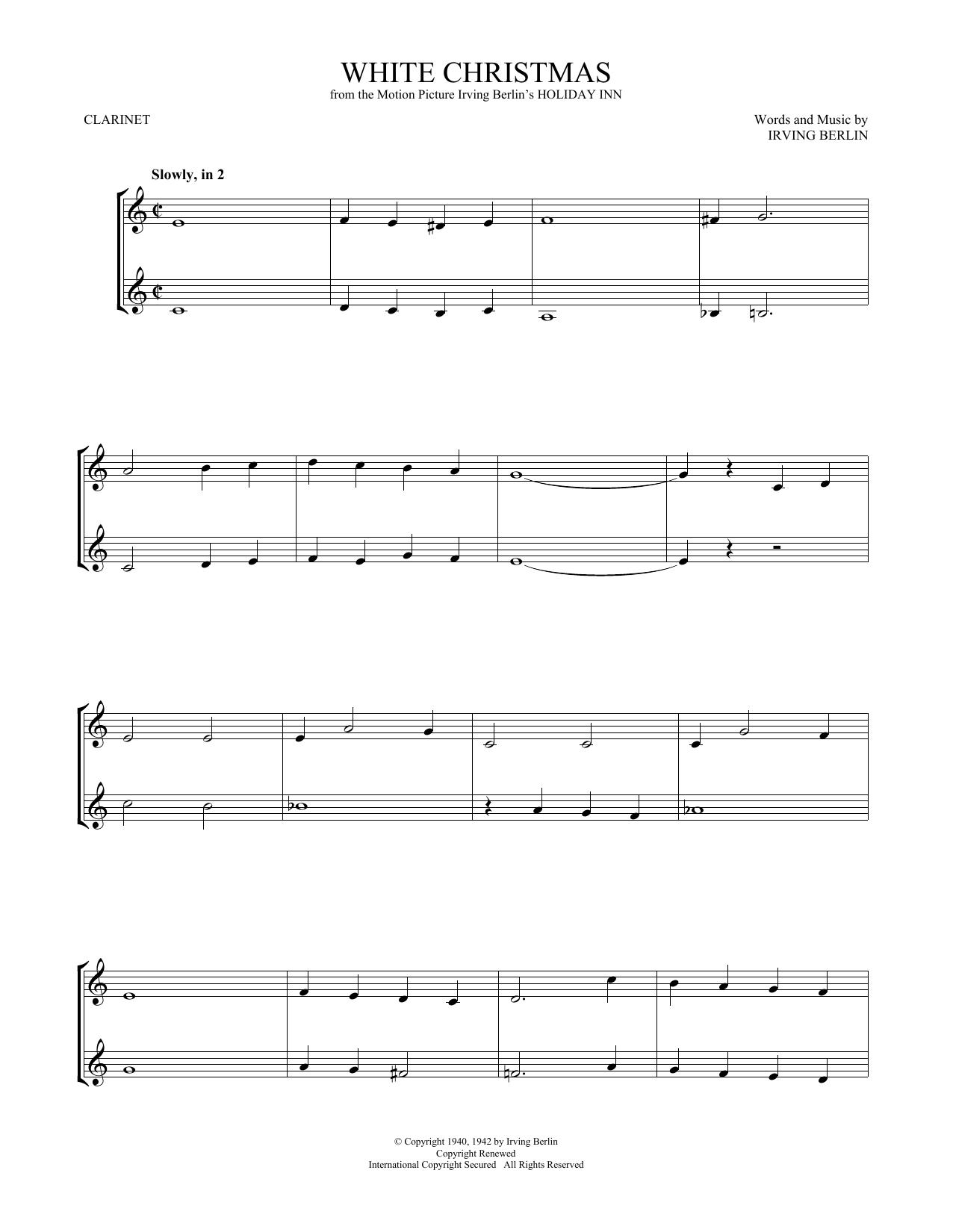 White Christmas (Clarinet Duet)