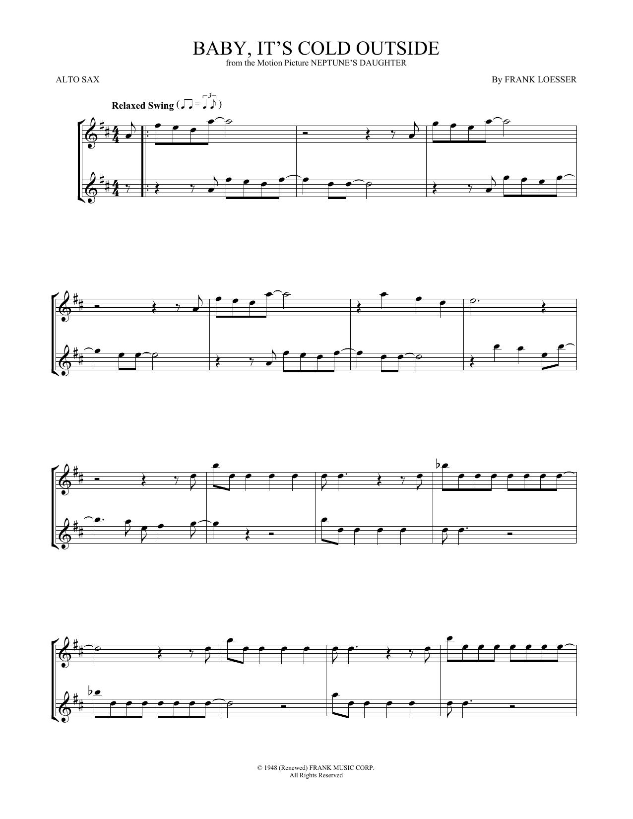 Baby, It's Cold Outside (Alto Sax Duet)