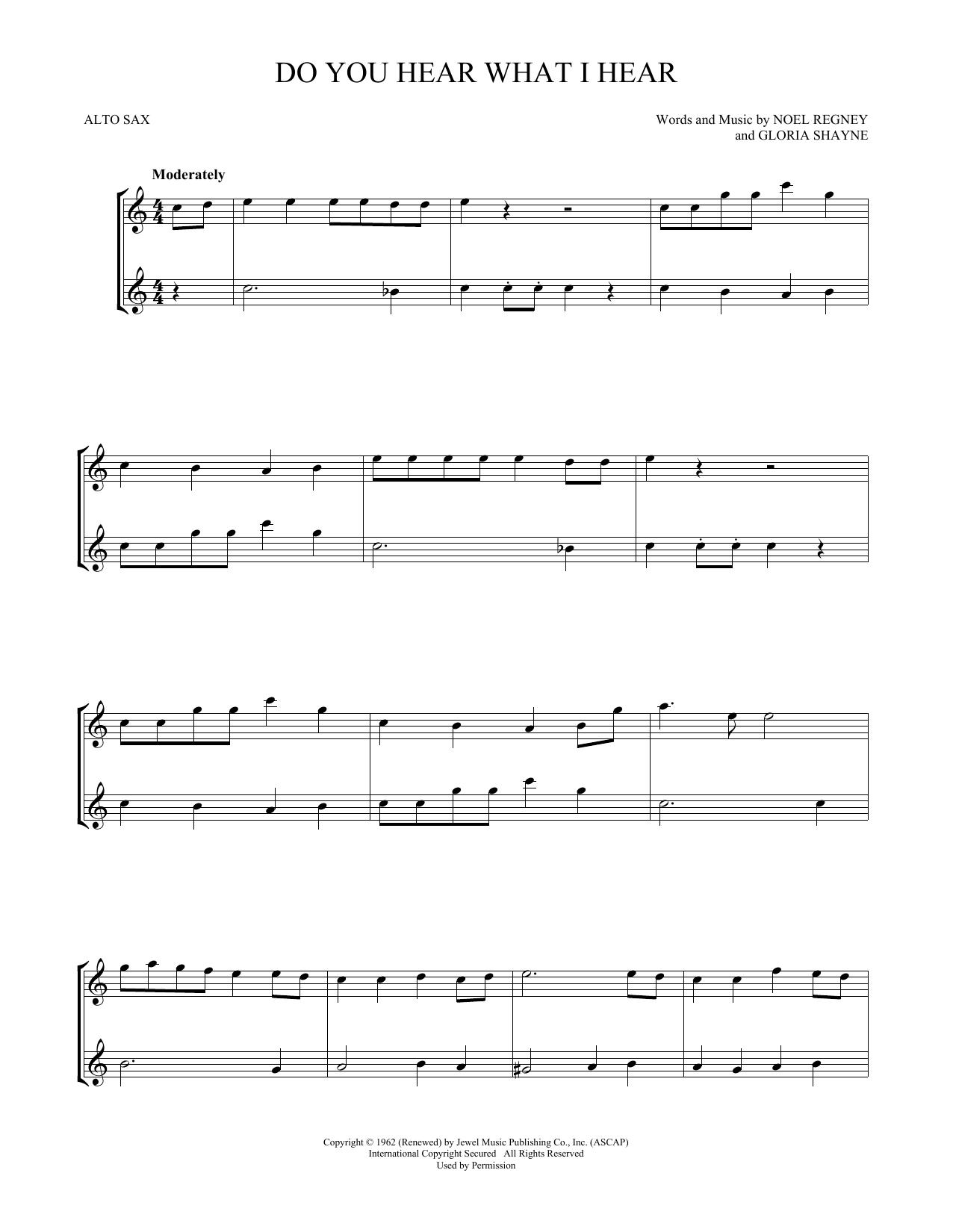 Do You Hear What I Hear (Alto Sax Duet)