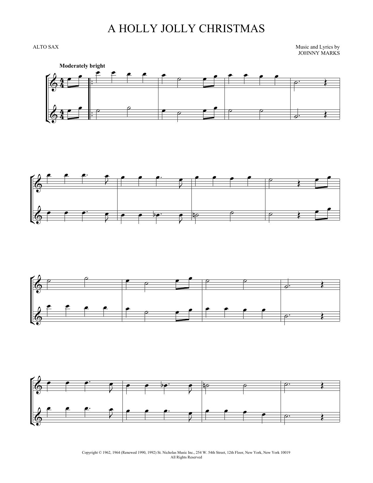 A Holly Jolly Christmas (Alto Sax Duet)