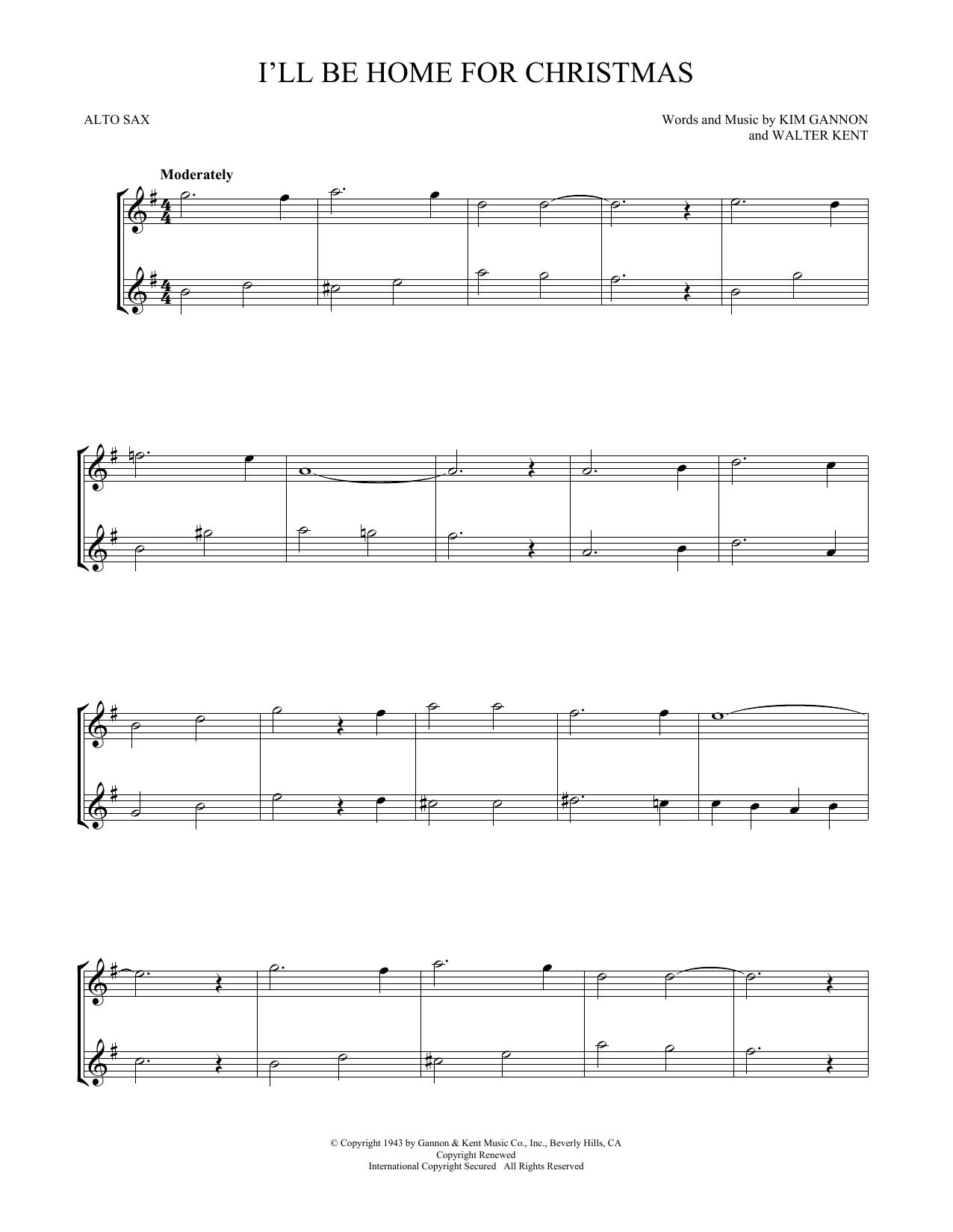 I'll Be Home For Christmas (Alto Sax Duet)