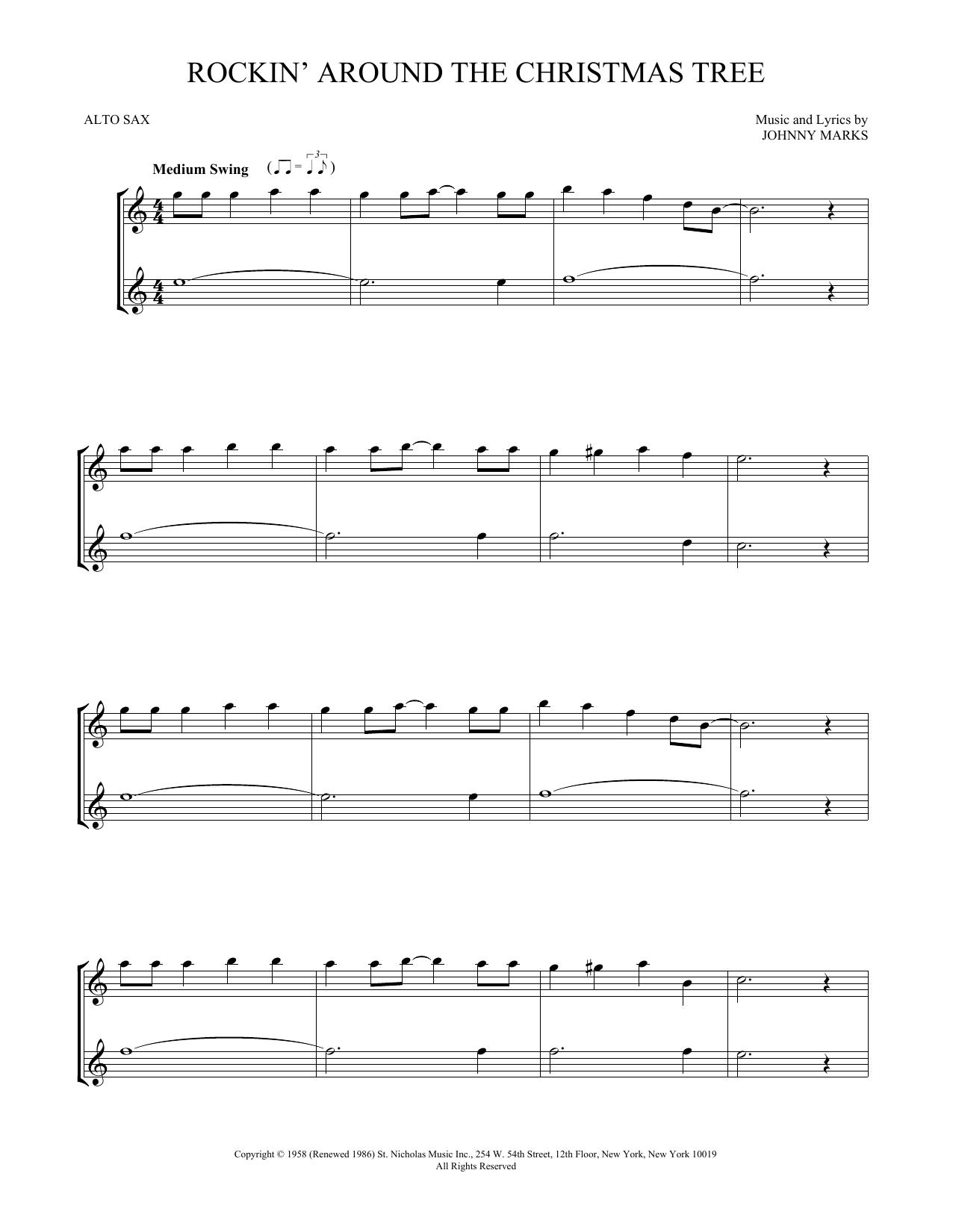 Rockin' Around The Christmas Tree (Alto Sax Duet)