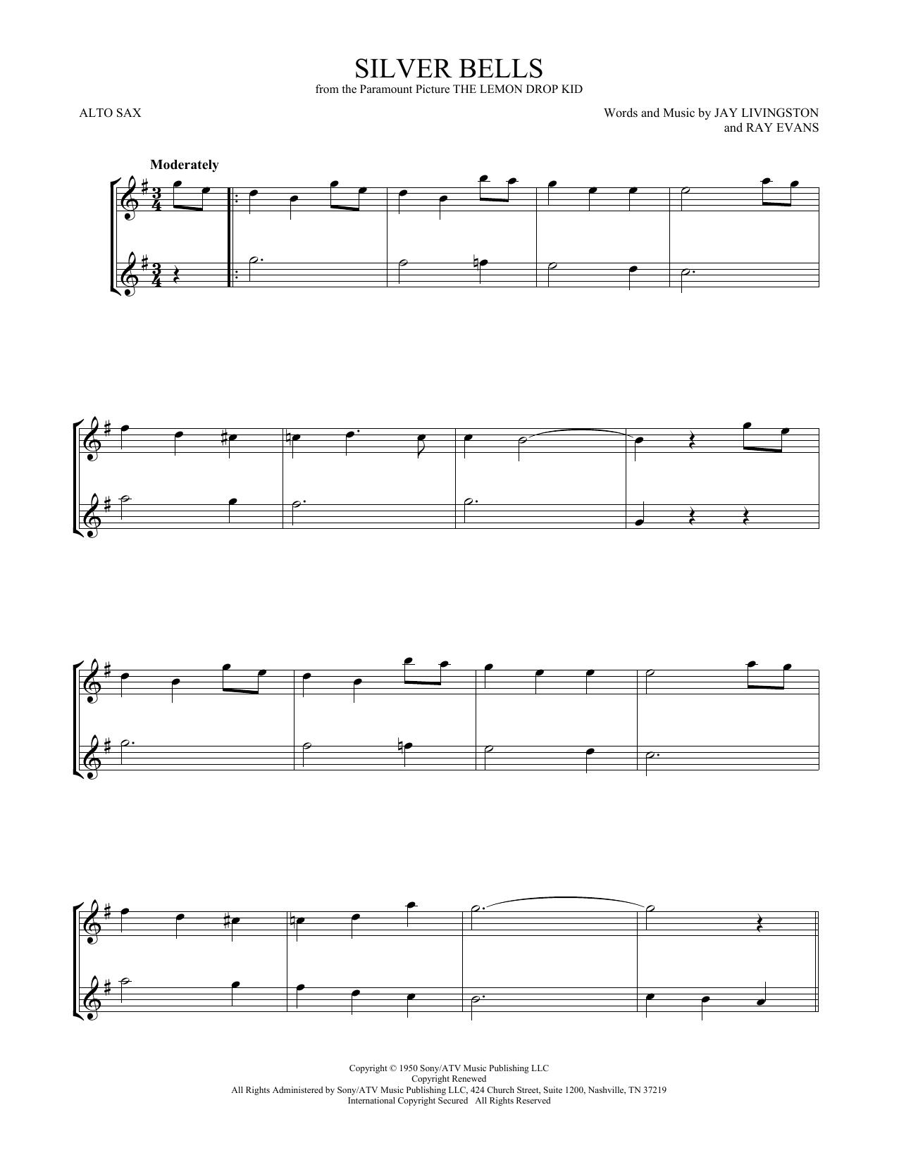 Silver Bells (Alto Sax Duet)
