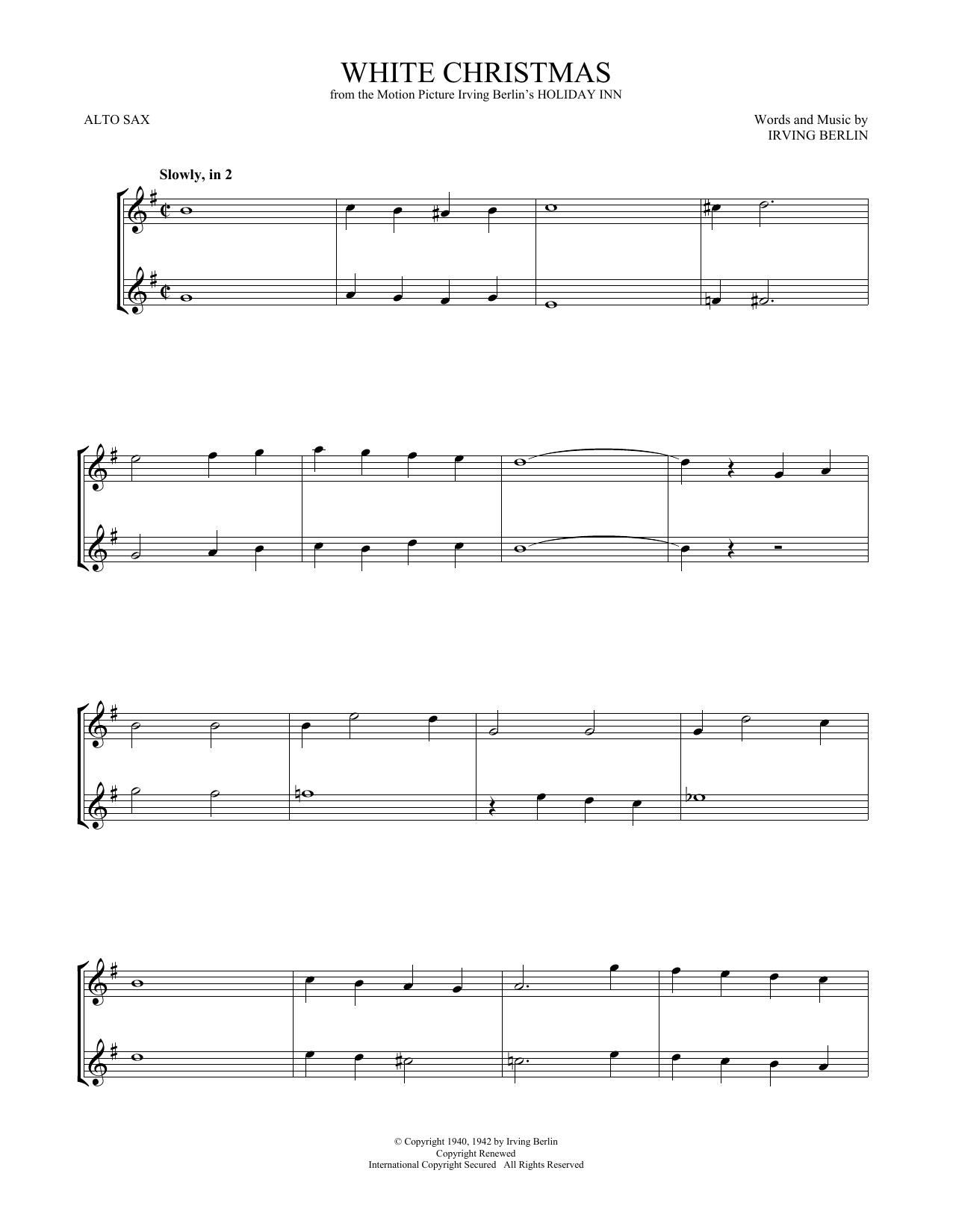 White Christmas (Alto Sax Duet)