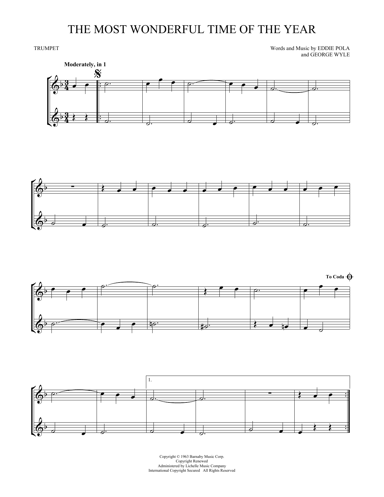 Christmas Hits for Two Trumpets - Trumpet - Easy Instrumental Duets ...