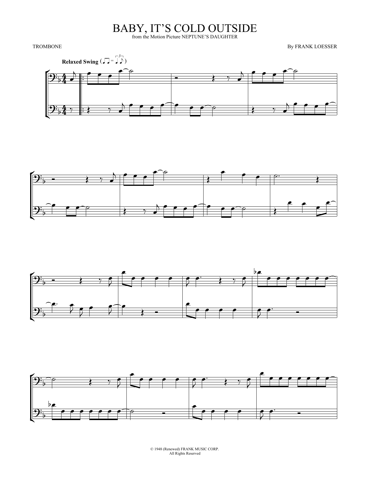 Baby, It's Cold Outside (Trombone Duet)