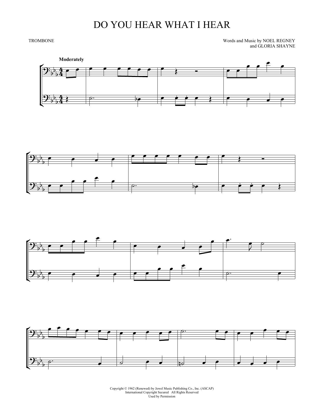 Do You Hear What I Hear (Trombone Duet)