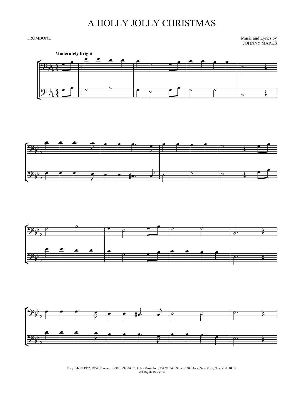A Holly Jolly Christmas (Trombone Duet)