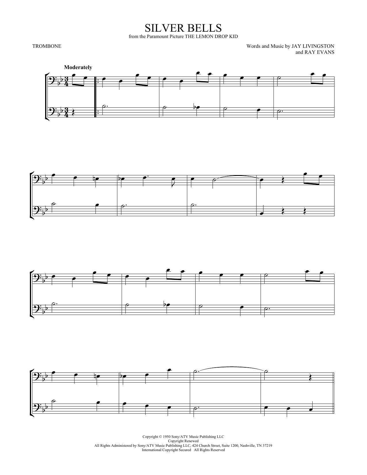 Silver Bells (Trombone Duet)