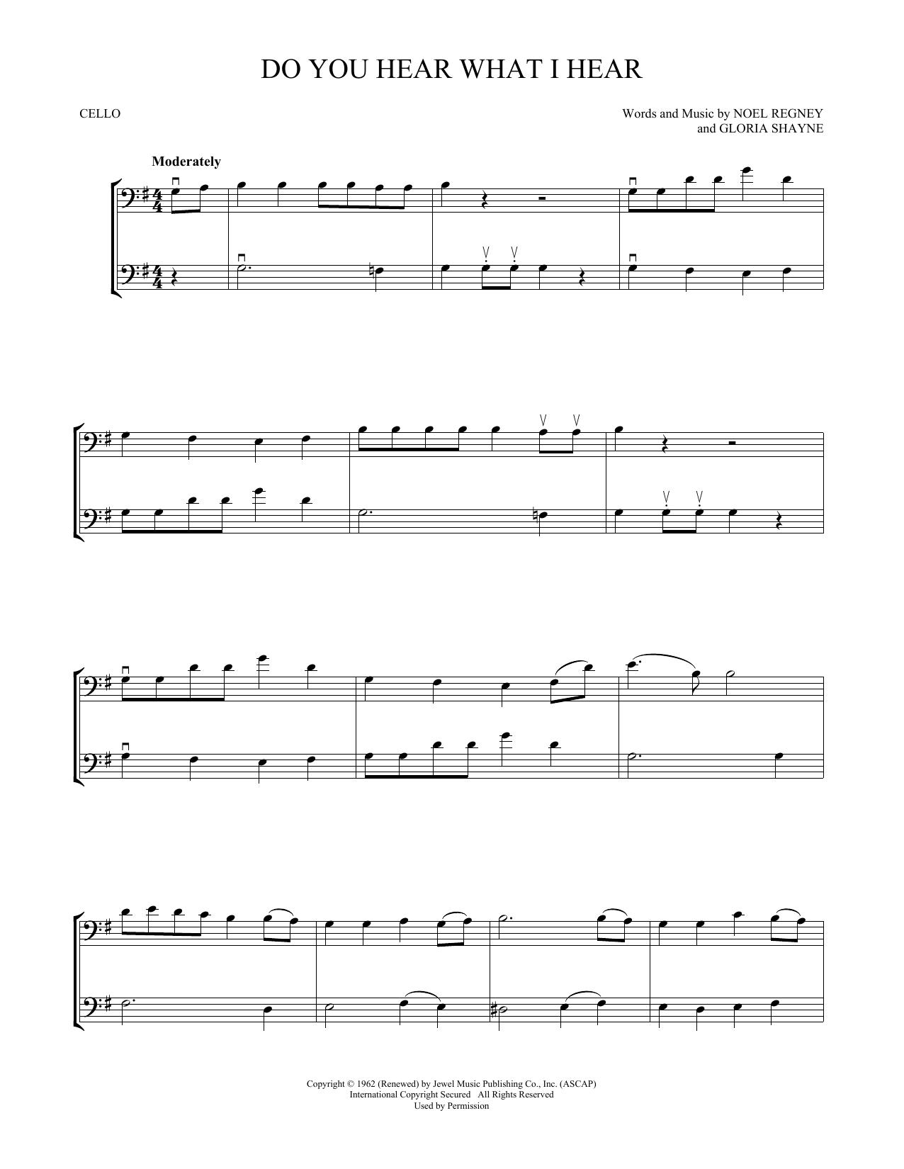 Do You Hear What I Hear (Cello Duet)