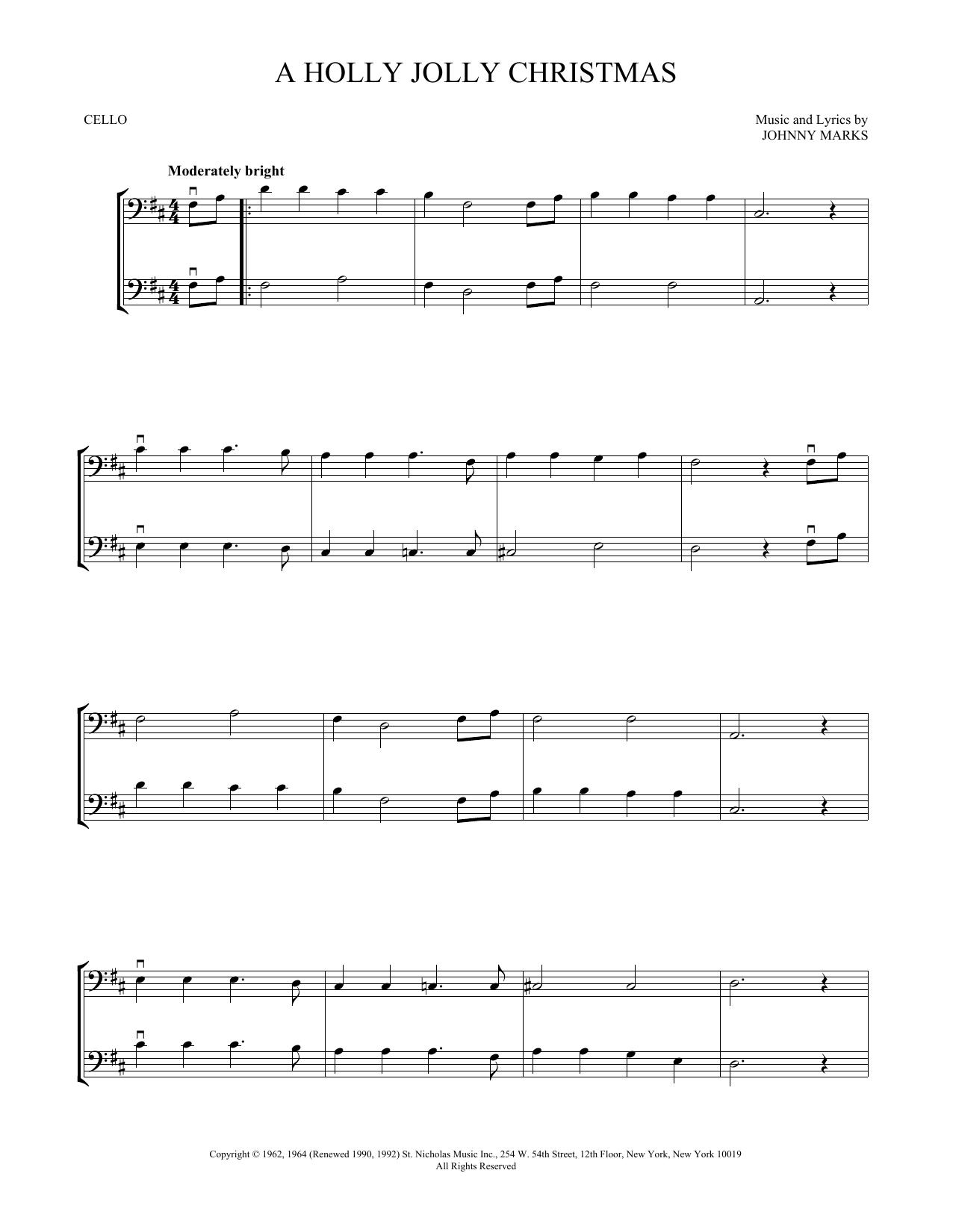 A Holly Jolly Christmas (Cello Duet)