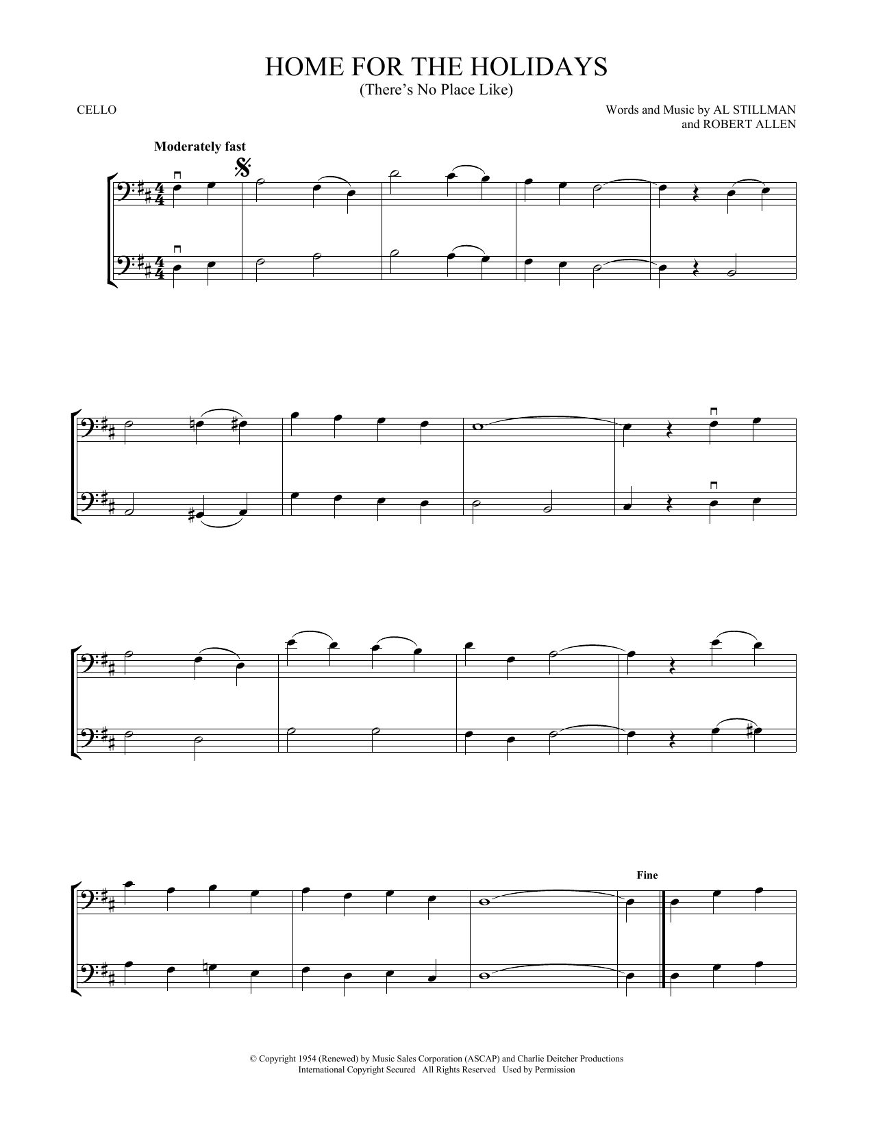 (There's No Place Like) Home For The Holidays (Cello Duet)