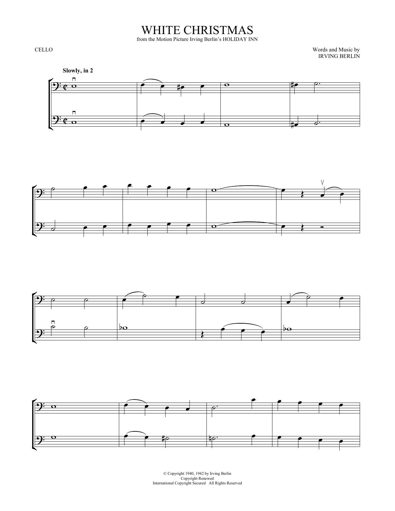 White Christmas (Cello Duet)