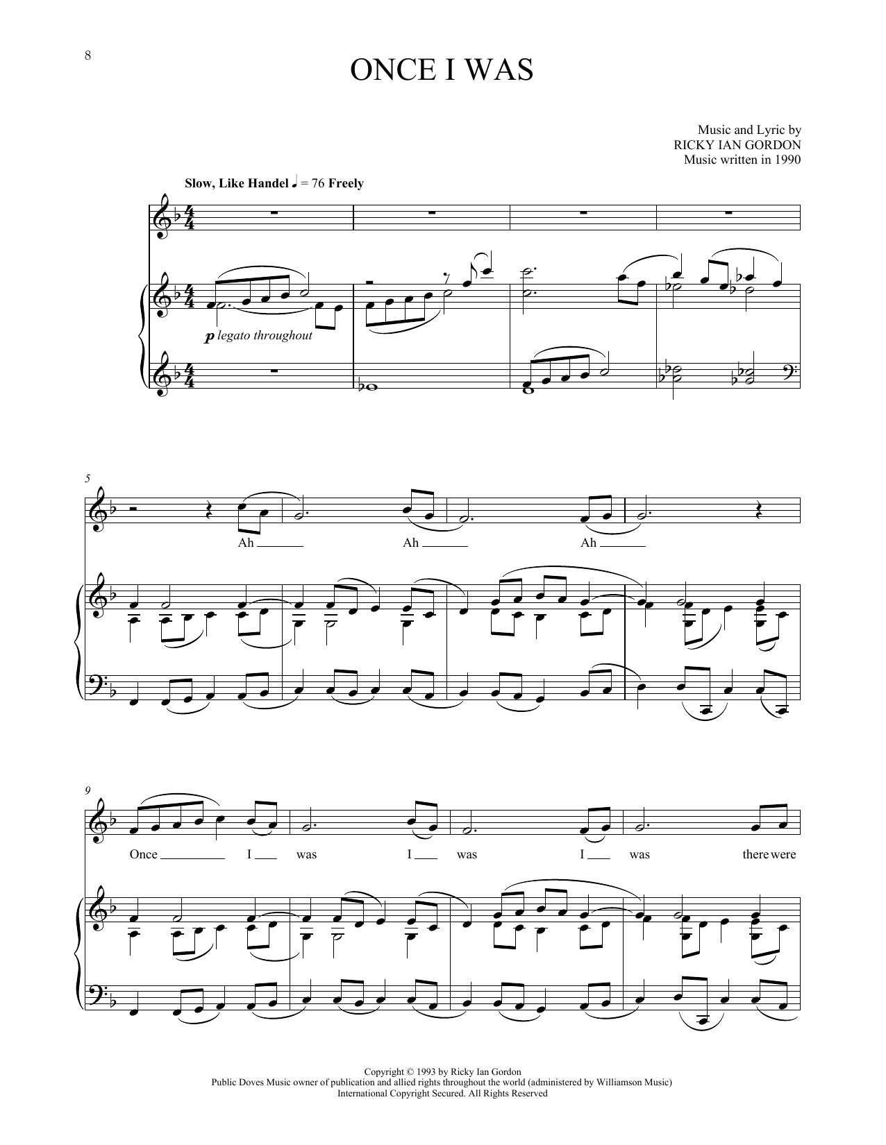 Once I Was Sheet Music