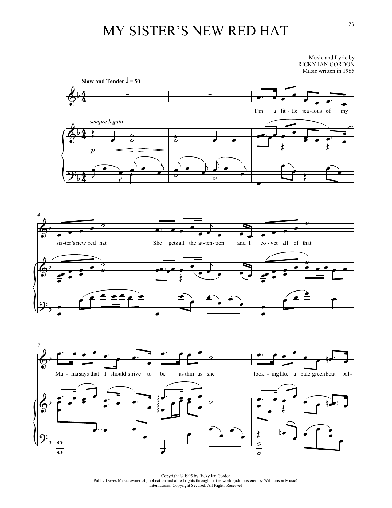 My Sister's New Red Hat Sheet Music