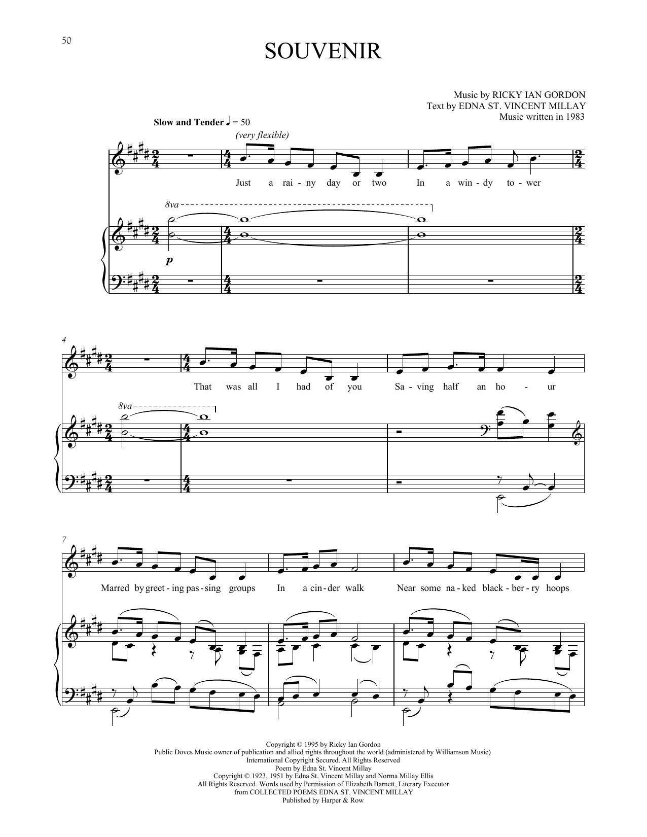 Souvenir Sheet Music