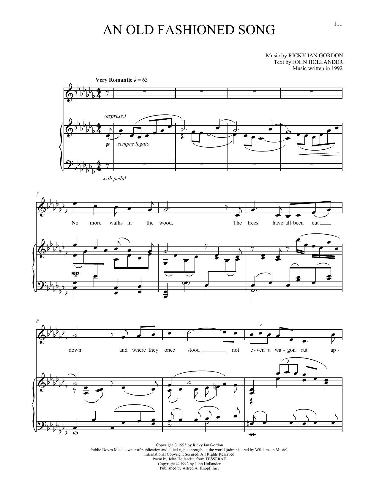An Old Fashioned Song Sheet Music