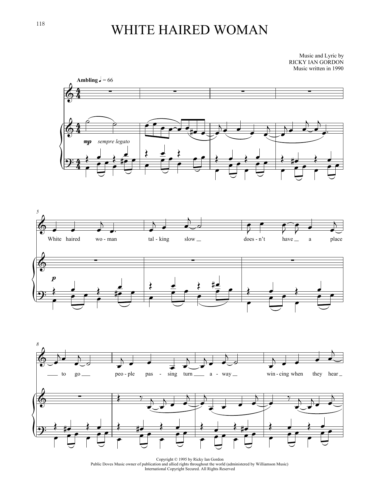 White Haired Woman Sheet Music