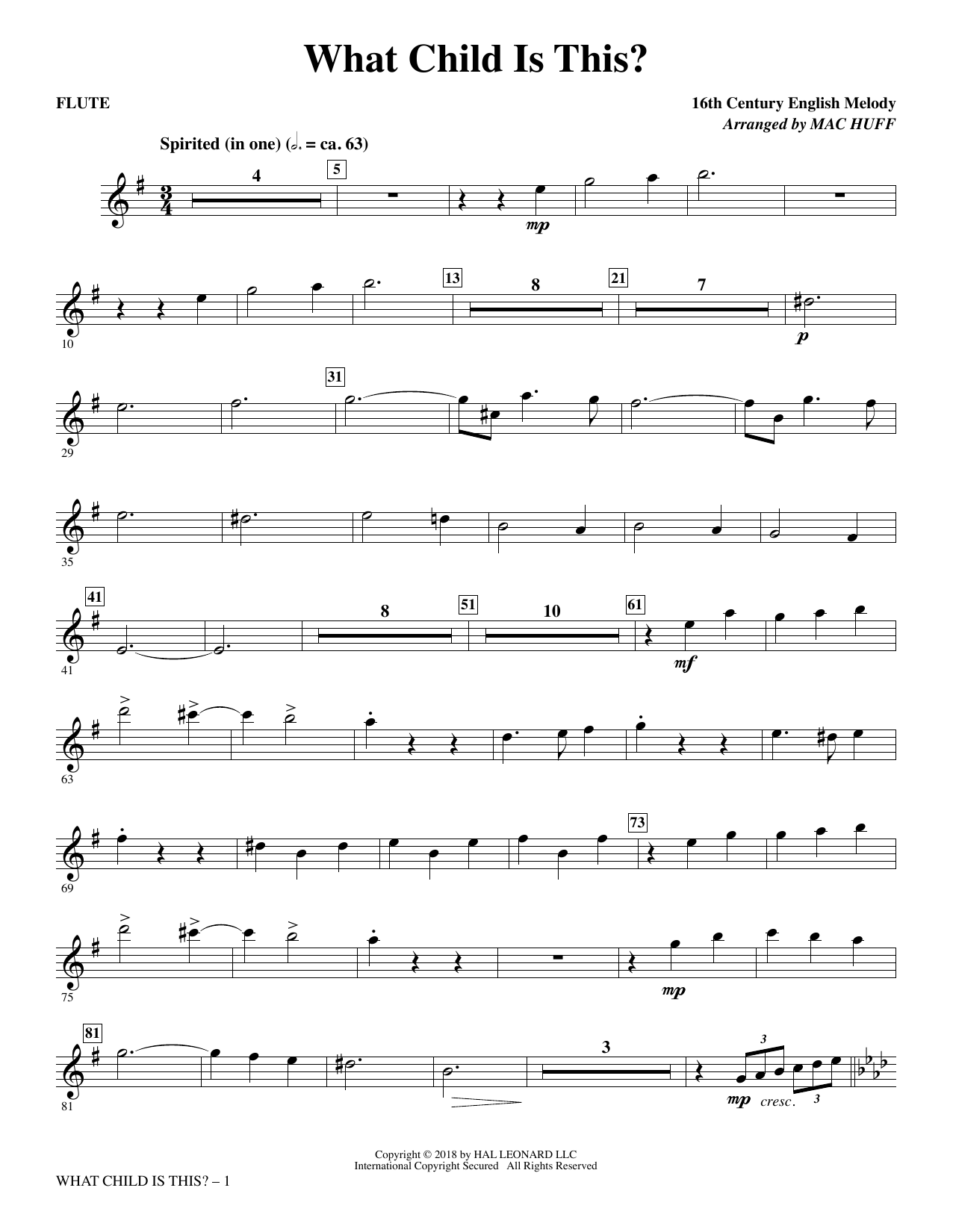 What Child Is This? - Flute (Choir Instrumental Pak)