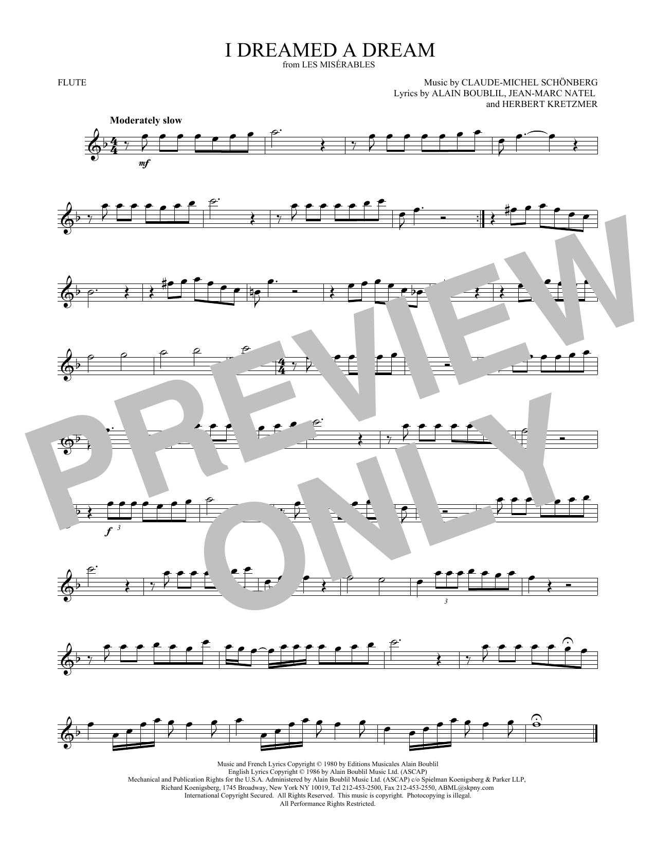 I Dreamed A Dream (Flute Solo)