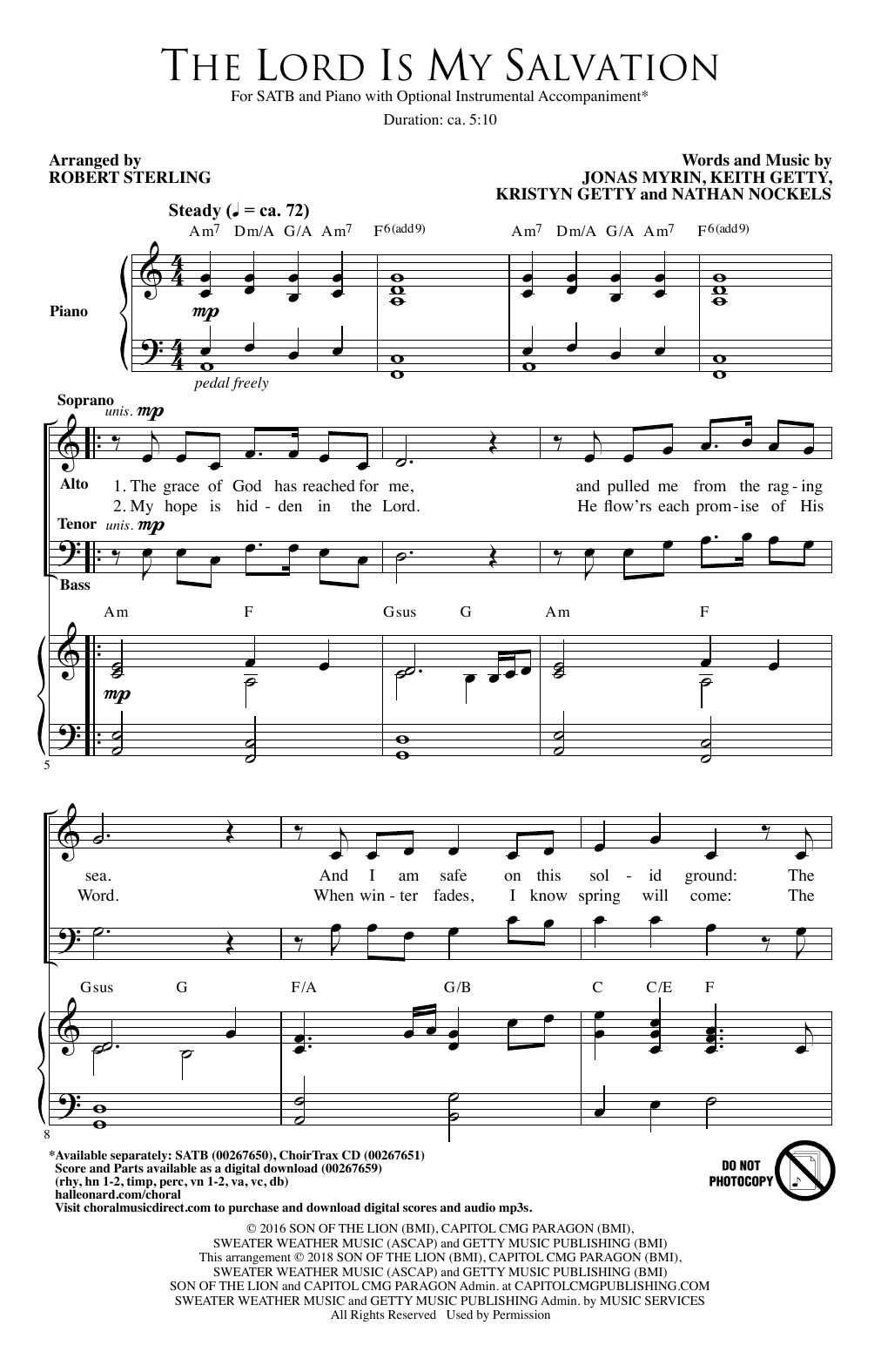 The Lord Is My Salvation (SATB Choir)