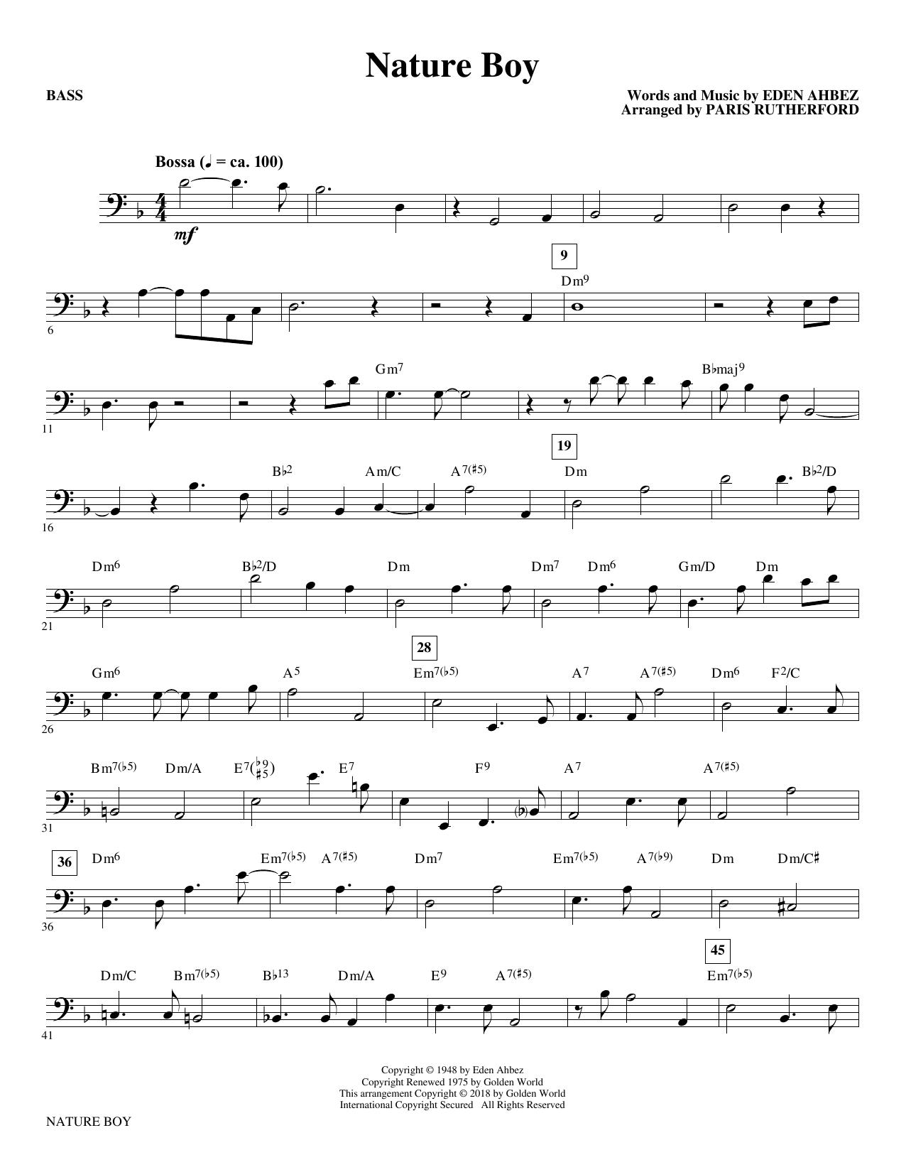 Nature Boy - Bass (Choir Instrumental Pak)