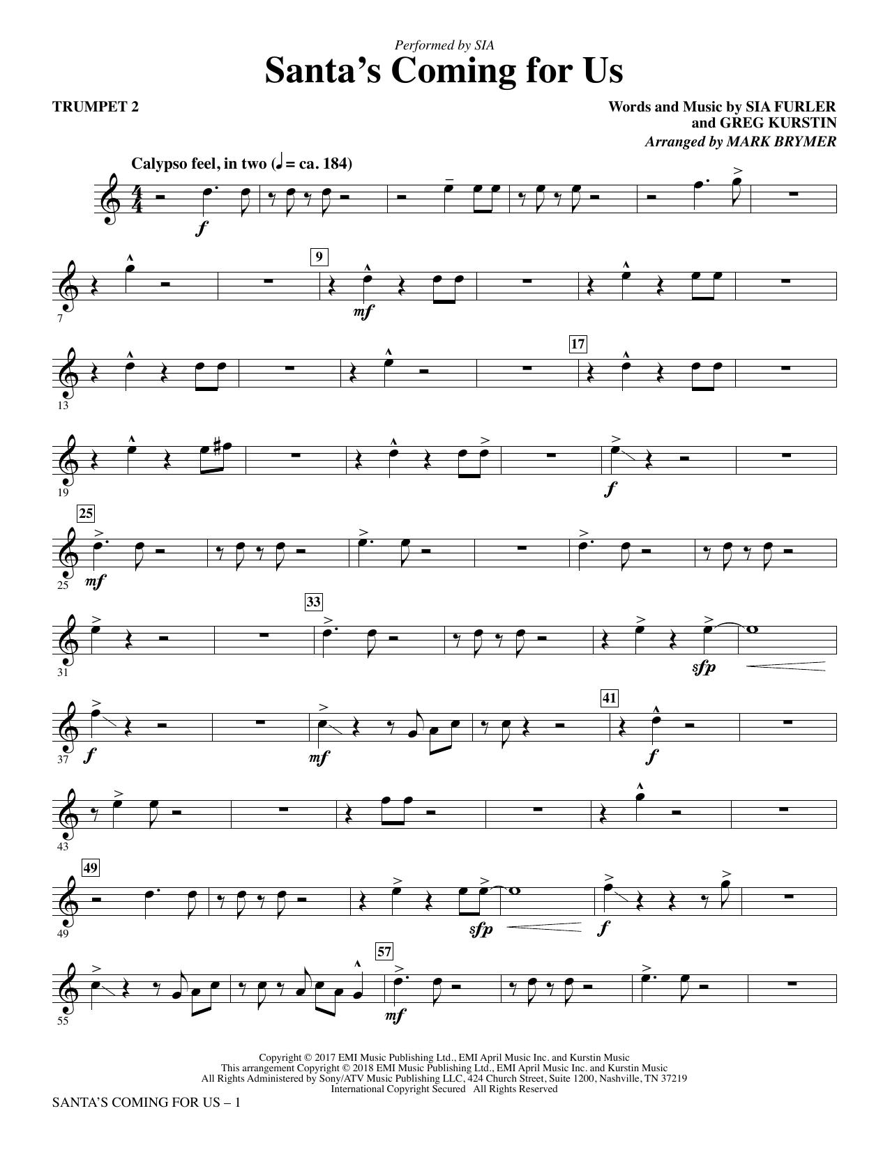 Santa's Coming for Us - Trumpet 2 (Choir Instrumental Pak)