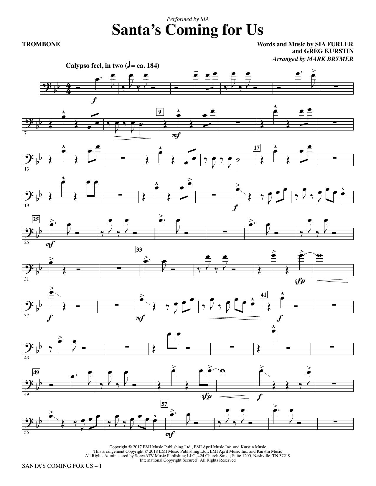 Santa's Coming for Us - Trombone (Choir Instrumental Pak)