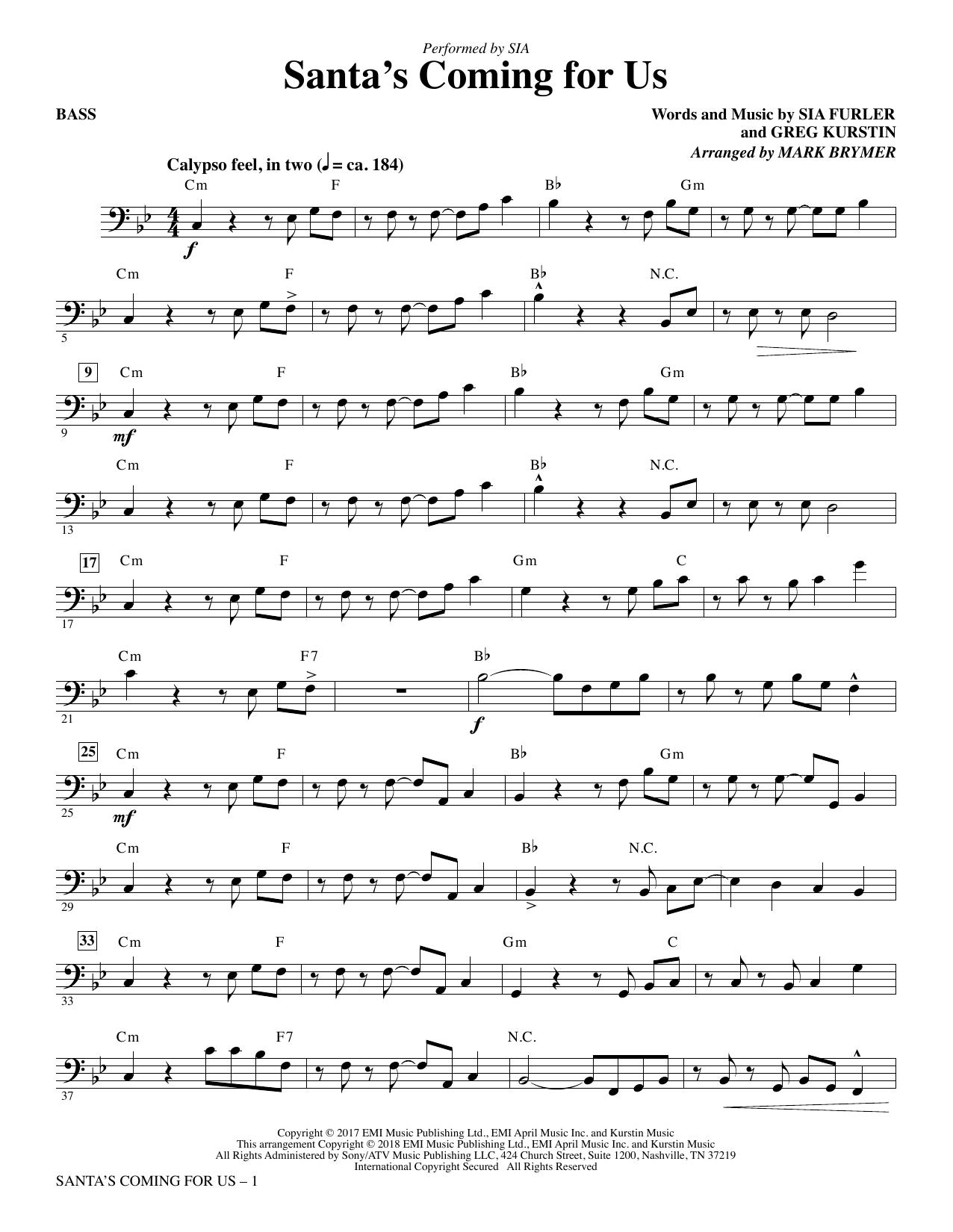 Santa's Coming for Us - Bass (Choir Instrumental Pak)