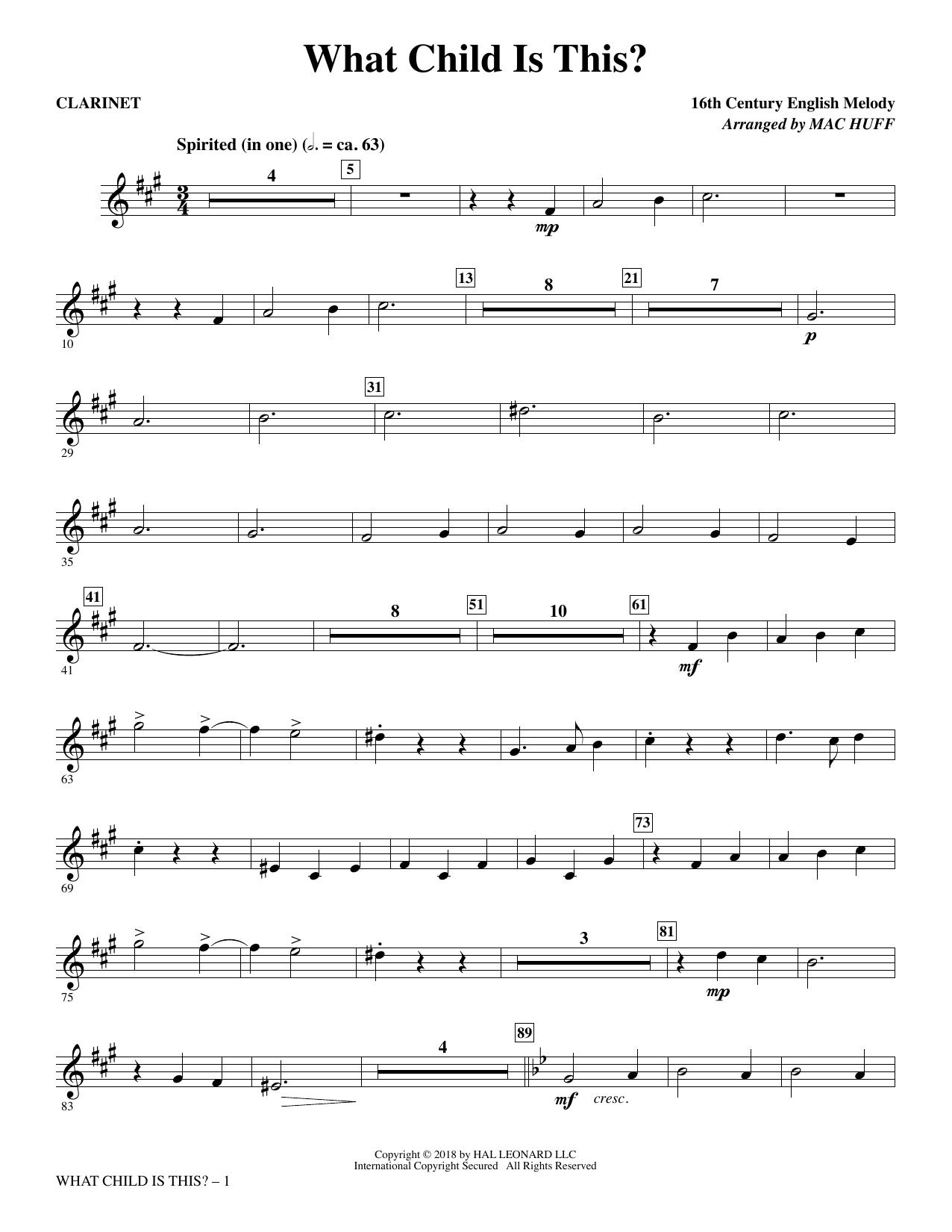 What Child Is This? - Clarinet (Choir Instrumental Pak)