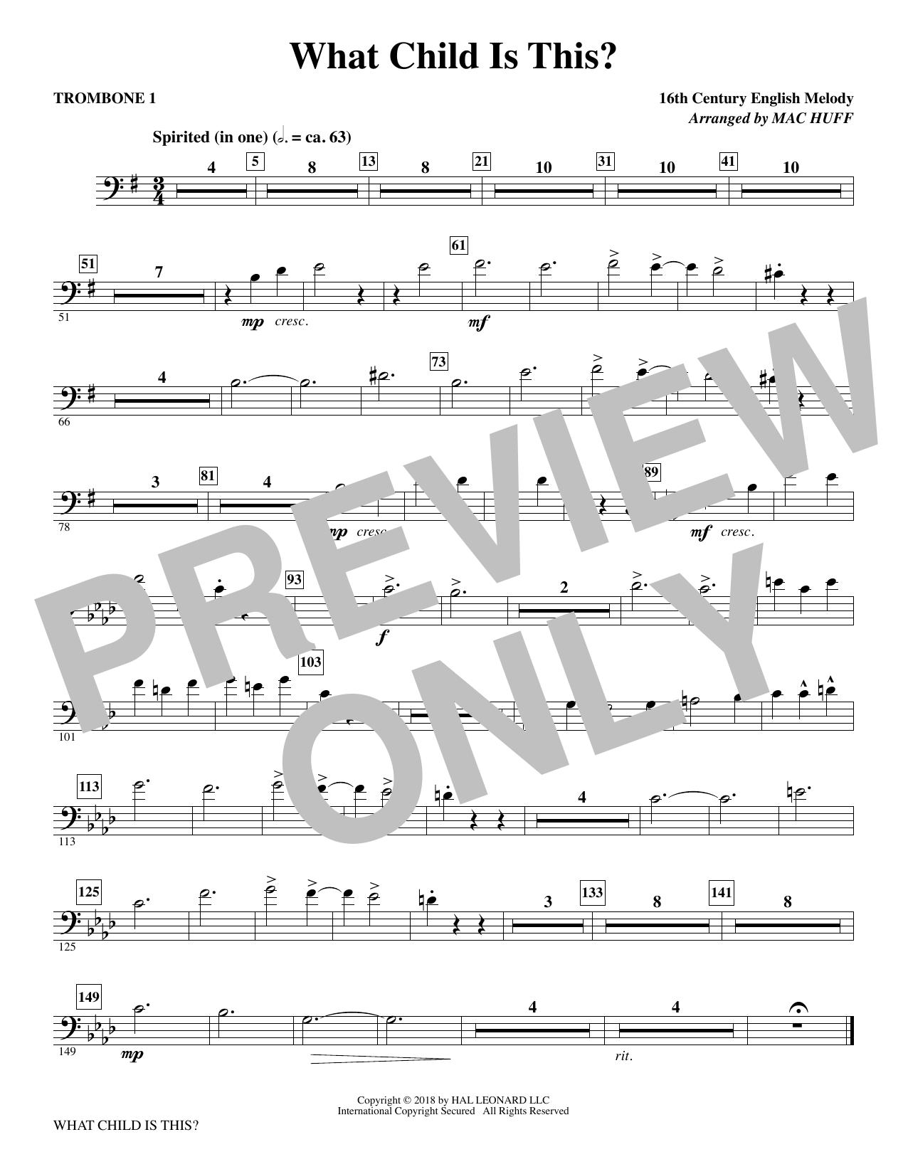 What Child Is This? - Trombone 1 (Choir Instrumental Pak)