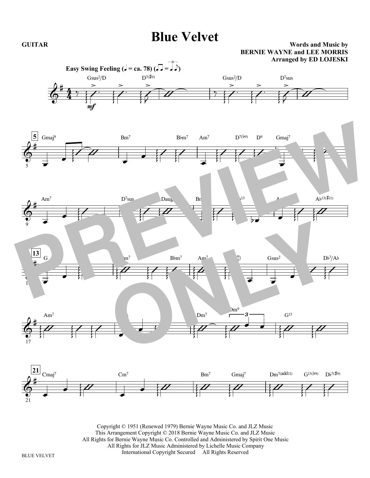 Blue Velvet - Guitar (Choir Instrumental Pak)
