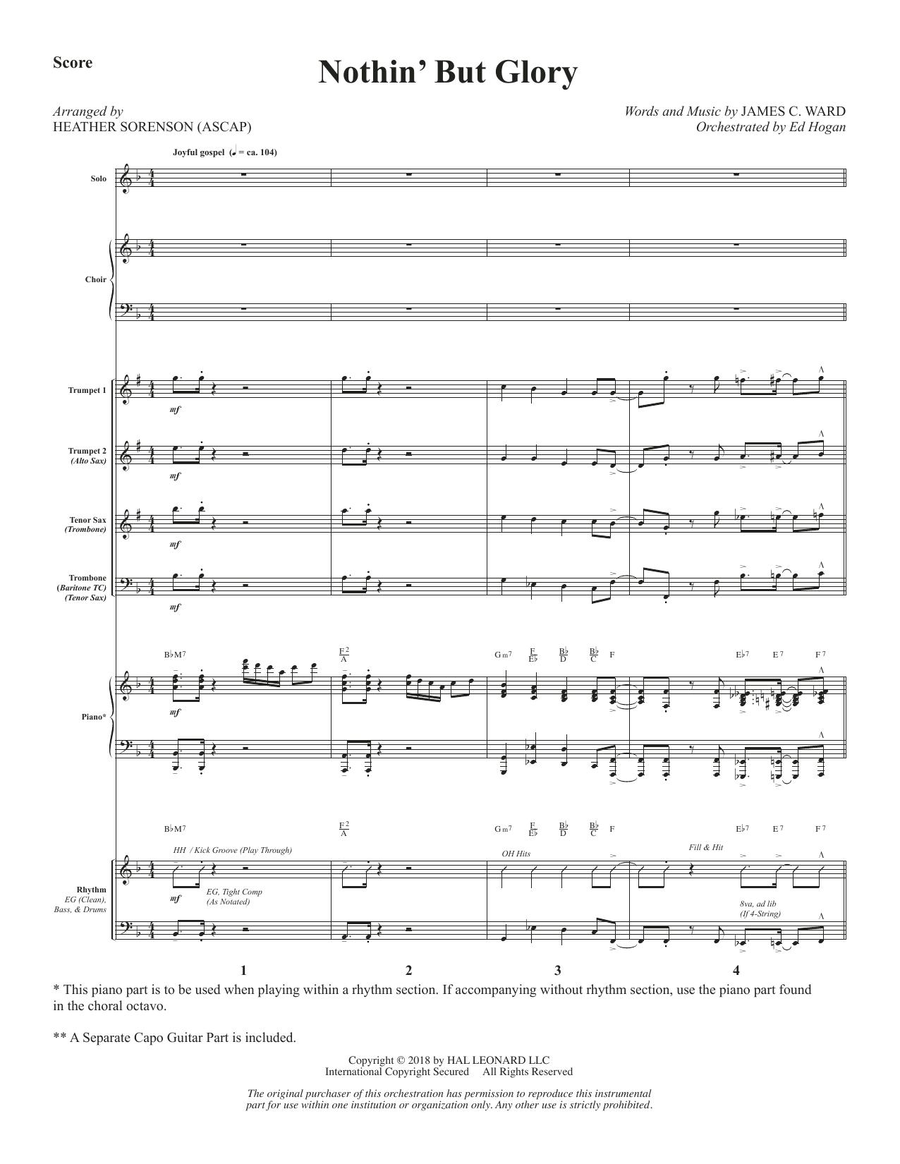 Nothin' But Glory - Full Score (Choir Instrumental Pak)