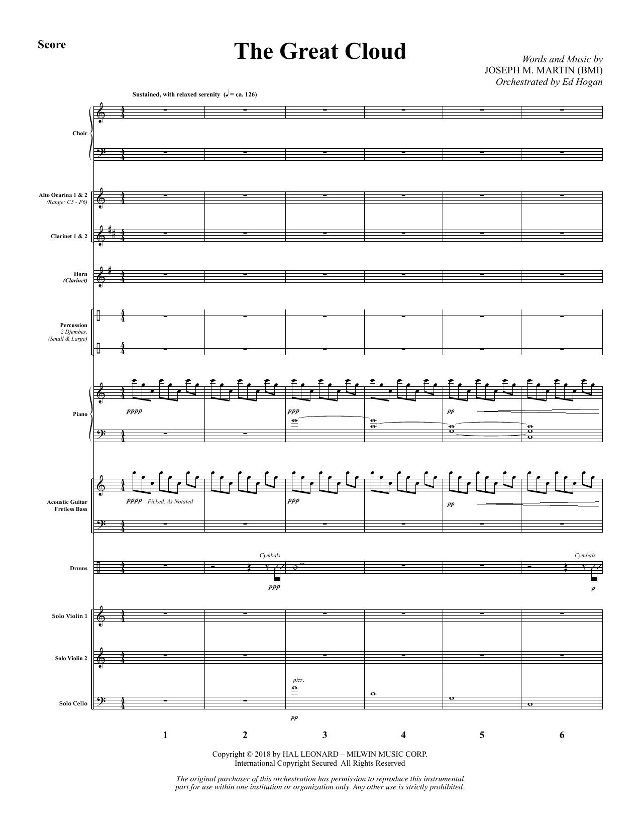 The Great Cloud - Full Score (Choir Instrumental Pak)
