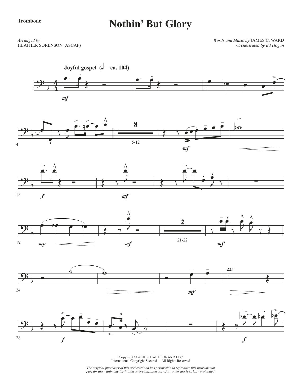 Nothin' But Glory - Trombone (Choir Instrumental Pak)