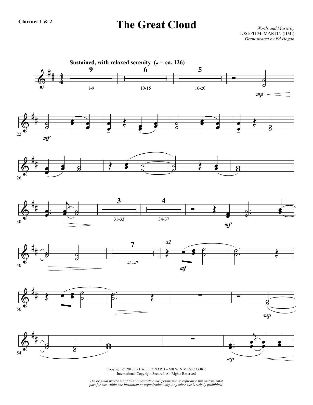 The Great Cloud - Bb Clarinet 1 & 2 (Choir Instrumental Pak)
