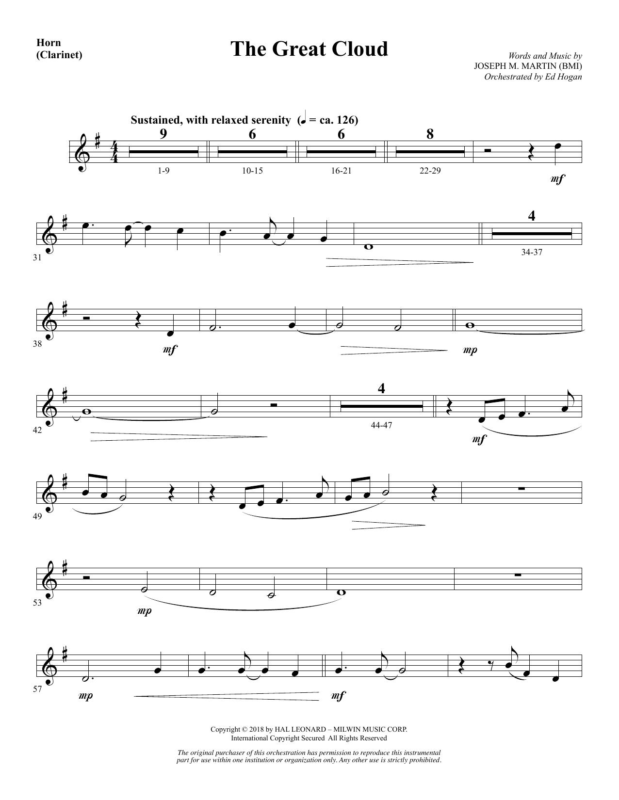 The Great Cloud - Horn (sub. Clarinet) (Choir Instrumental Pak)