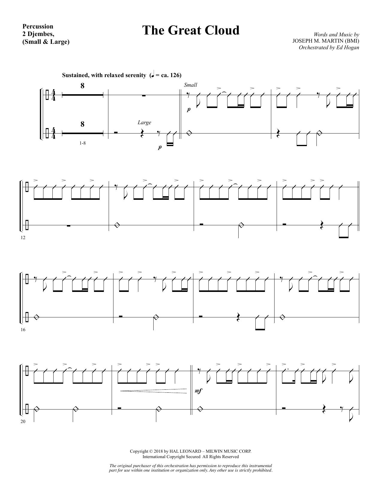 The Great Cloud - Percussion (Choir Instrumental Pak)
