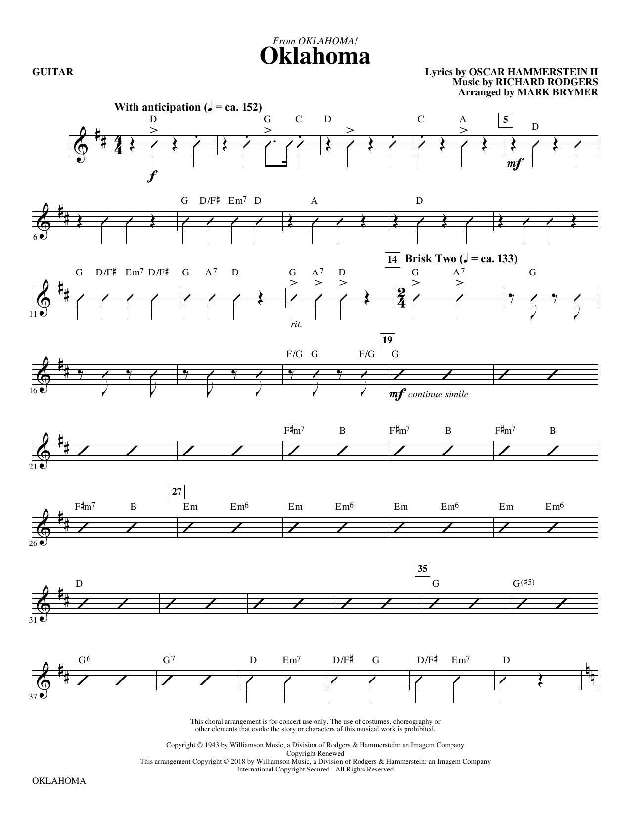 Oklahoma (from Oklahoma!) - Guitar (Choir Instrumental Pak)